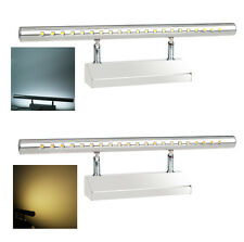 5W 21 LEDs Mirror-front Lighting Bathroom Wall Lamp with Switch Stainless Steel