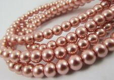 Glass Pearl Vintage Rose 3mm, 4mm,6mm,8mm,10mm,12mm round spacer loose beads