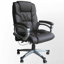 Vital Designer Quality Faux Leather Executive Swivel Computer Desk Office Chair