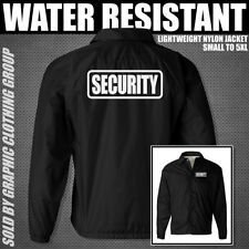 BLACK SECURITY JACKET ** Lightweight Nylon Jacket ** S - 5XL ** Guard Uniform