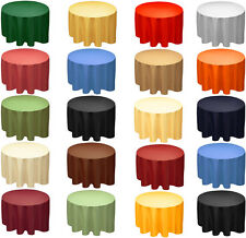 "Plain nappe propre round table cloth 173cm ronde 68 ""circulaire"