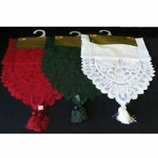 Christmas Lace Table Runner Xmas Décor Decoration Red White Green 33x150cm