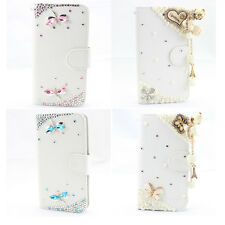 1x 3D Bling diamond leather wallet flip case cover apple samsung sony nokia htc