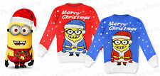 Childrens Boys Girls Christmas Xmas Retro Novelty Santa Rudolf Snowman Jumper