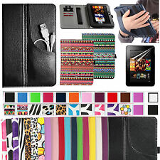 "For Amazon Kindle Fire HD 7""Magnetic Smart Stand Case Cover W/Handle+Protector"