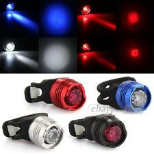 Waterproof White LED Bike Bicycle Rear Tail Light Lamp 3 Modes Silver/Red/Black
