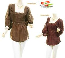 Women Victorian Renaissance Medieval Pirate Wench Poet Peasant Blouse Shirt Top