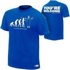 Damien Sandow Evolution You're Welcome WWE Authentic Blue T-Shirt