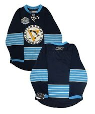 Pittsburgh Penguins Reebok Winter Classic Navy Blue Men's Authentic Blank Jersey