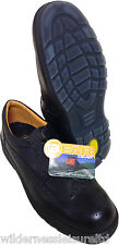 Brogues Safety Shoes Black Safety Footwear Factory  Office Ship Site Inspection