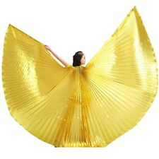 Hot Red Egyptian Egypt Belly Dance Costume Isis Wings   (no stick) FREE SHIPPING