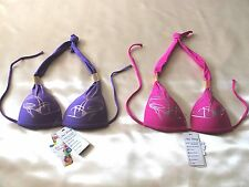Superb nailang classic bikini tops togs tossie  unremovable padding  bra size 8