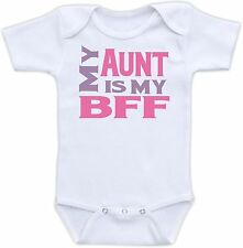 My Aunt is My BFF Cute Baby Onesie Funny Onsie Clothing Cool Unique Shower Gift