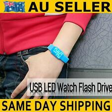USB LED Watch Flash Drive with 32GB Micro SD TF Memory Card Xmas Gadget