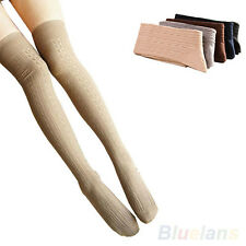 Cotton Womens Winter Fall Knit Over Knee Thigh Stockings High Socks Tights BE4U