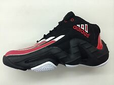ADIDAS REAL DEAL BLACK RED WHITE ANTOINE WALKER MENS SIZE SHOES RETRO NIB G65714