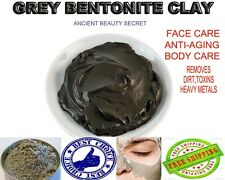 Grey Bentonite Clay,Pure Mineral Mud skin care antiaging face/body healing mask
