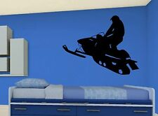 SNOWMOBILE ~ WALL DECAL * Sled * Vinyl Lettering STICKER ~ ANY COLOR
