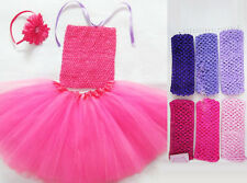 Crochet Tutu Top Tube Tops 12 Colors U Pick Newborn Toddler Baby Girls Tutus