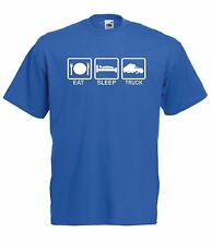 EAT SLEEP TRUCKER funny truck dad fathers gift ideas NEW Mens Womens T SHIRTS