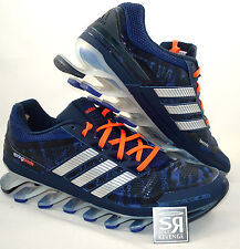 New 7 adidas SPRINGBLADE Running Shoe Hero Blue Metalsilver Spring Blade boost