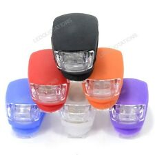 New Cycling Bike Bicycle Safety Warning Front Rear 2 LED Flash Light Bulb Lamp