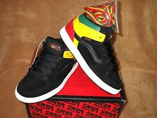 NEW VANS EDGEMONT SKATE SHOE BLK/ GREEN/YELL/RED YOUTH 11.5,  2.5,