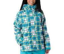 DC Shoes Fuse Jacket Womens Snowboard Ski Waterproof Insulated Coat Plaid