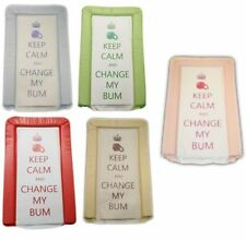 KEEP CALM & CHANGE MY BUM SOFT PADDED DELUXE BABY CHANGING MAT WATER PROOF MATS