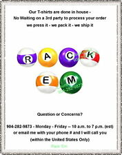 T-shirt - Your Name in -- RACK 'EM - Billard Pool balls - personalized custom
