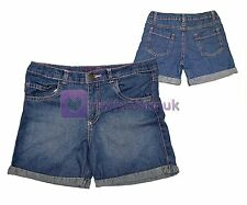 GIRLS CUTE DENIM SHORTS JEANS SHORTS FASHIONABLE CASUAL WEAR NEW SIZE AGE 6 - 12