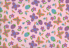 """PINK BUTTERFLY STRAWBERRY COTTON 