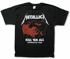 "METALLICA ""KILL 'EM ALL TOUR 1983"" BLACK T-SHIRT NEW OFFICIAL ADULT NWT"