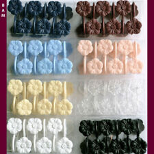 12 Piece Floral Plastic Shower Curtain Rings/Hooks  8 Colors FREE SHIPPING!
