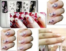 B5 30/50 Sheets 3D Colorful Decal Stickers Nail Art Manicure Tips DIY Decoration