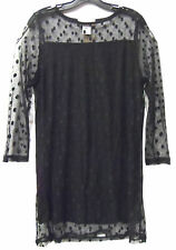 LADY NOIZ SHIRT BLACK POLKA DOT CLOTHING TOP JUNIOR RD-BC527  XL/1x 2x