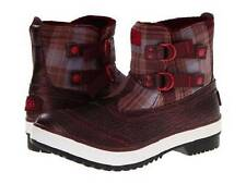 UGG Plaid Marrais Double Buckle Waterproof Lined Leather Upper Boots Wms NIB