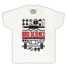 BRO SCIENCE BUILDING BETTER BODIES GYM WORKOUT KIDS T SHIRT TEE ALL SIZES COLS