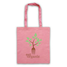 EAT ORGANIC HEALTHY EATING CLEAN LIVING FITNESS CANVAS TOTE SHOPPING SHOPPER BAG