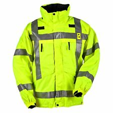 5.11 3 In 1 High Vis Reversible Parka Yellow / Black W Removable Fleece Liner