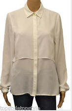 NEW  HOUSE OF FRASER   COLLECTION  PLAIN  IVORY & WHITE BLOUSE