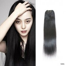 Remy 100% Brazilian Straight Human Hair Sewed Weft Hair Extensions Jet Black