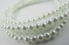 Glass Pearl White Cream 3mm, 4mm,6mm,8mm,10mm round loose beads top quality