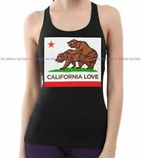 New Junior's California Republic Funny Bears Black Tank Top humor cali sex