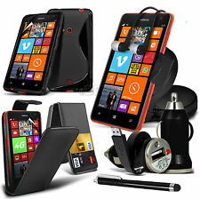 8 in 1 Bundle Kit Accessory Case Cover Car Holder Charger For Nokia Lumia 625