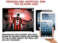 PERSONALISED UNOFFICIAL AC MILAN IPAD HARD SILICONE CASE