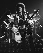 BRIAN MAY PHOTO QUEEN 8x10 1977 black and white by Marty Temme 1B