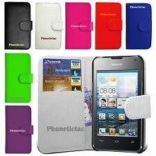 Book Wallet Flip Leather Case Card Cover For Various Huawei Ascend Phones