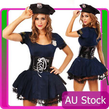 Ladies Woman Navy Cop Police Uniform Party Fancy Dress Hens Costume Outfit
