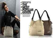 Ladies Ancient Inclined Cowhide Artificial Leather Handbag Shoulder Bag Tote AA-